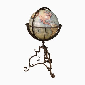 Mid-Century Italian Globe in Wrought Iron