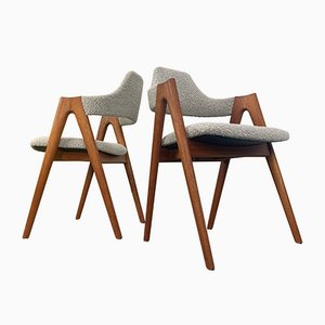 Teak Compass Chairs by Kai Kristiansen for Sva Møbler, Denmark, 1960s, Set of 6