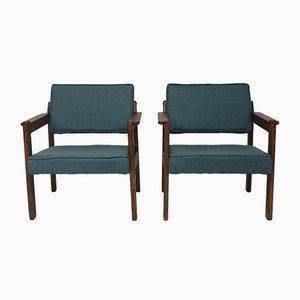 Armlehnstuhl aus Holz, 1970er, 2er Set