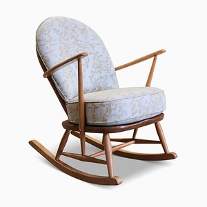 Elm and Beech Model 305 Windsor Tub Rocking Chair by Lucian Ercolani for Ercol