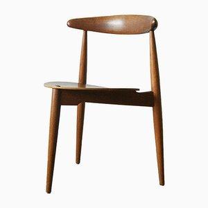 Mid-Century Heart Chair by Hans Jorgen Wegner for Fritz Hansen, 1950s
