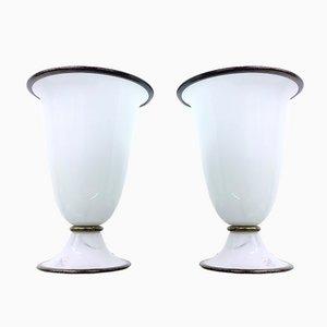 Tischlampen von Barovier & Toso, 1980er, 2er Set