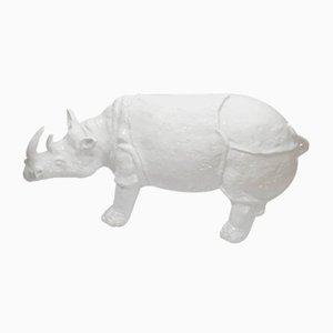 Nashorn aus glasierter Keramik