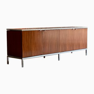 Marble & Teak Credenza by Florence Knoll Bassett for Knoll Inc. / Knoll International, 1970s