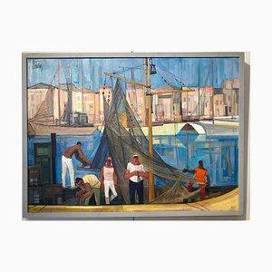 Les marins sur le porte de Rimini, Öl auf Leinwand