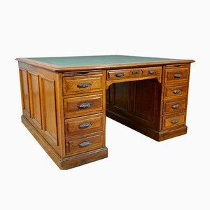 Large Double Room Desk in Oak, Italy, 1920s
