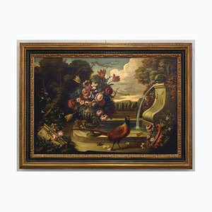 Alfredo Mahieux, Still Life with Pheasant, Oil on Canvas, Framed