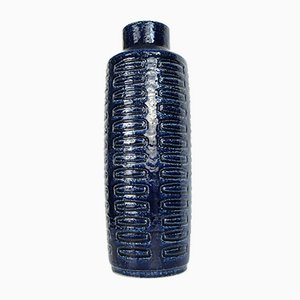 Large Scandinavian Model C15 Ceramic Vase in Cobalt Blue by Linnemann-Schmidt for Palshus, Denmark, 1960s