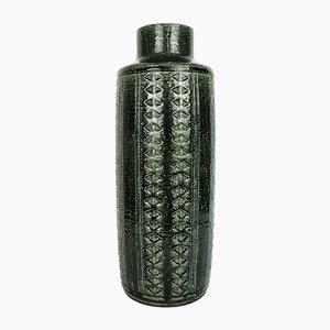 Large Scandinavian Model C15 Ceramic Vase in Green by Linnemann-Schmidt for Palshus, Denmark, 1960s