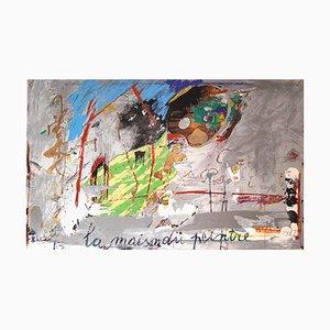 Giosetta Fioroni, La Maison du Peintre, 1980s, Colored Serigraph