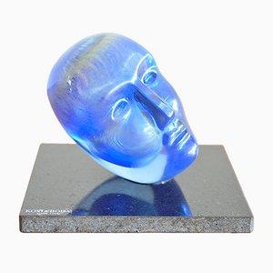 Glass Head by Bertil Vallien for Kosta Boda