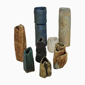 Englische Mid-Century Keramikskulpturen von Mary Rogers, 8er Set