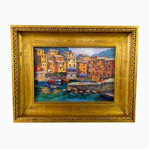 Maria Teresa Di Micco, Italian Landscape Painting, Oil on Canvas, Framed