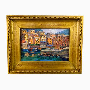 Maria Teresa Di Micco, Italienische Landschaftsmalerei, Öl auf Leinwand, Gerahmt