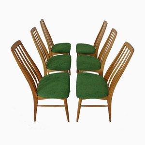 Vintage Danish Eva Teak Dining Chairs by Niels Koeefoed for Hornslet Furniture Factory, 1960s, Set of 6