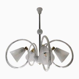 Reticello Glass Lamp by Carlo Scarpa for Venini, 1940s