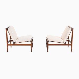Model 501 Lounge Chairs by Kai Lyngfeldt Larsen for Søborg Møbelfabrik, Set of 2