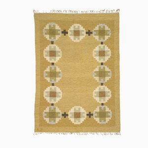 Mid-Century Swedish Flat-Weave Carpet