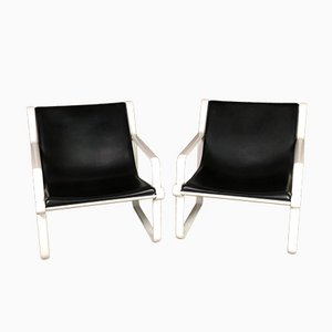 Aluminum Cast Iron Armchairs by Hannah and Morrison for Knoll Inc. / Knoll International, Set of 2
