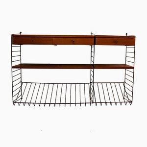 Modulares Teak Furnier Shelf System Sideboard von Kajsa & Nils Nisse Strinning für String, 1960er, 9er Set
