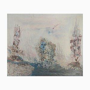 Aquarius von Aubeuf, 1974, Öl auf Leinwand, gerahmt