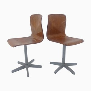 Mid-Century Children Chairs by Elmar Flötotto for Pagholz, Germany, 1970s, Set of 2