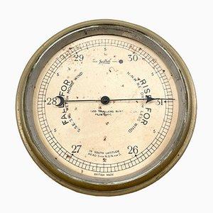 Antikes Wetter-Barometer aus Messing von Sestrel Britsh