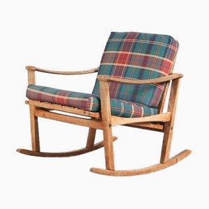 Oak Rocking Chair by M. Nissen for Pastoe, Netherlands, 1950s