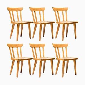 Oregon Kiefernholz Esszimmerstühle von Roland Wilhemsson, 6er Set