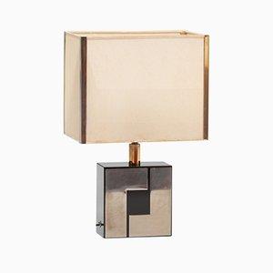 Französische Tischlampe aus Formica & Chrom