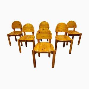 Rainer Daumiller Pine Wood Dining Chairs from Hirtshals Savvaerk, Set of 6