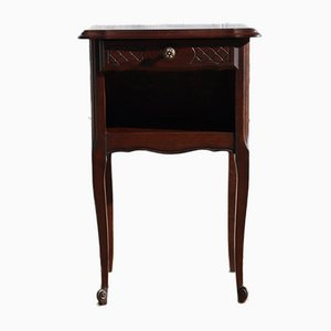 French Vintage Wooden Nightstand