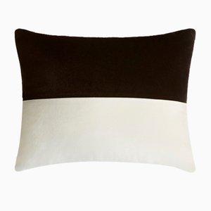 Double Horizontal Black and White Velvet Pillow from LO Decor