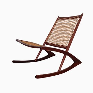 Norwegian Rocking Chair by Fredrik Kayser for Vatne Mobler