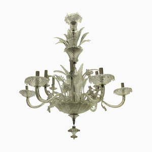 Large Murano Glass Chandelier, Italy, 1930s