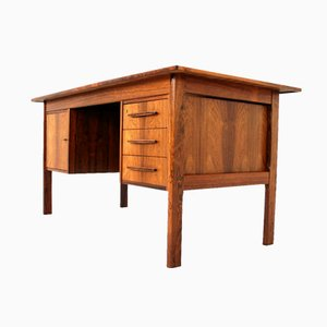 Danish Brazilian Rosewood Executive Writing Desk, 1972