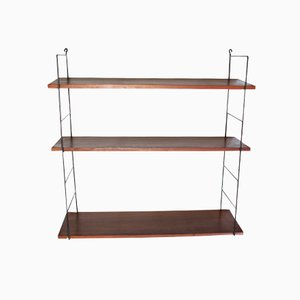 Swedish Three-Tiered Wall Shelf from String