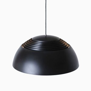 Danish Black Royal Pendant Lamp by Arne Jacobsen for Louis Poulsen, 1970s