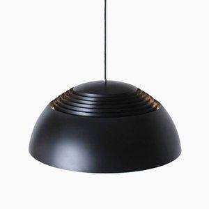 Lampe à Suspension Royal Noire par Arne Jacobsen pour Louis Poulsen, Danemark, 1970s