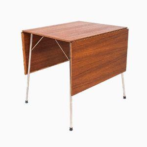 Table, Modèle 3601, avec Abattants par Arne Jacobsen pour Fritz Hansen, Danemark, 1953