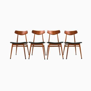 German Teak Dining Chairs from Habeo, 1960s, Set of 4