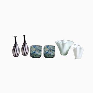 Vintage Glass Vases, Set of 6