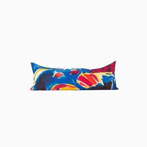 Cojín alargado pintado a mano multicolor de Naomi Clark para Fort Makers