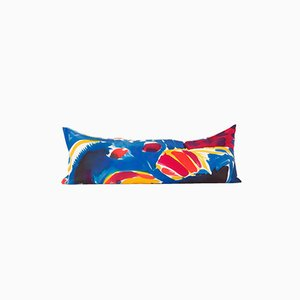 Multicolored Snake Painted Parrot Pillow by Naomi Clark for Fort Makers