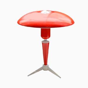 Lampada da tavolo tripode rossa di Louis Kalff per Philips, Olanda, anni '50