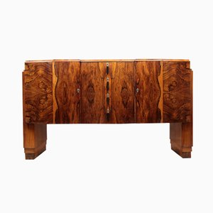 English Art Deco Mahogany & Brazilian Rosewood Sideboard, 1920s