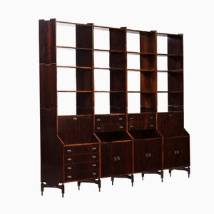 Italian Rosewood Wall Unit by Claudio Salocchi for Sormani