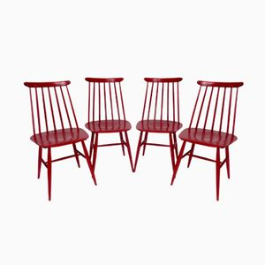 65T Fanett Chairs by Ilmari Tapiovaara for Edsby Verken, Set of 4
