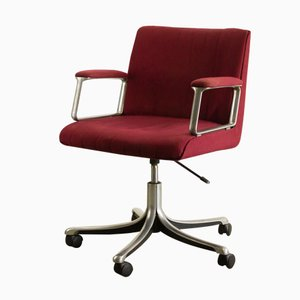 Mid-Century P128 Swivel Desk Chair by Osvaldo Borsani for Tecno