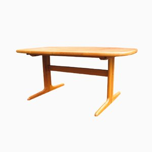 Danish Extendable Oval Teak Dining Table from Skovby, 1970s